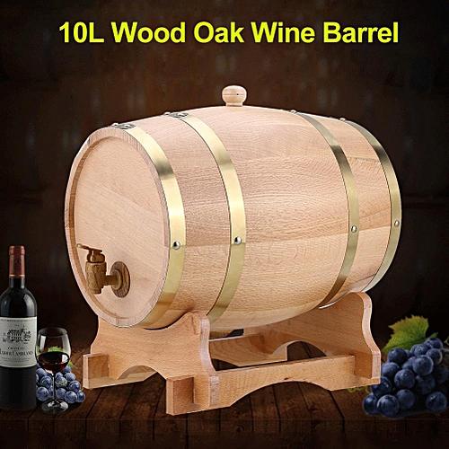 Vintage Wood Oak Timber Wine Barrel For Beer Whiskey Rum Port (10L)