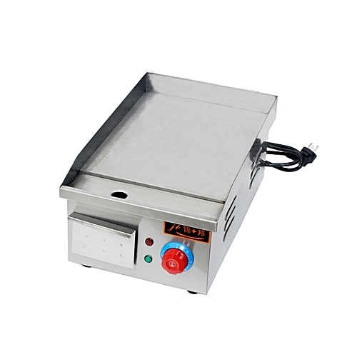 Stainless Steel Electric Griddle JB-PL811 Flat Cast-iron Pan Electric Portable Mini Teppanyaki Silver