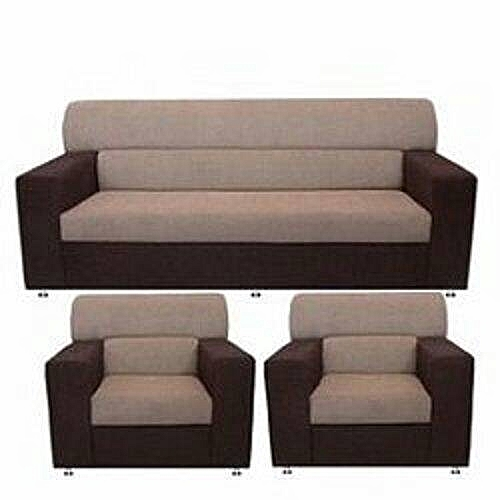 Living Room Set With Permanent Back Rest - Brown And Cream ( Order Der Now And Get OTTOMAN Free). DELIVERY TO LAGOS ONLY