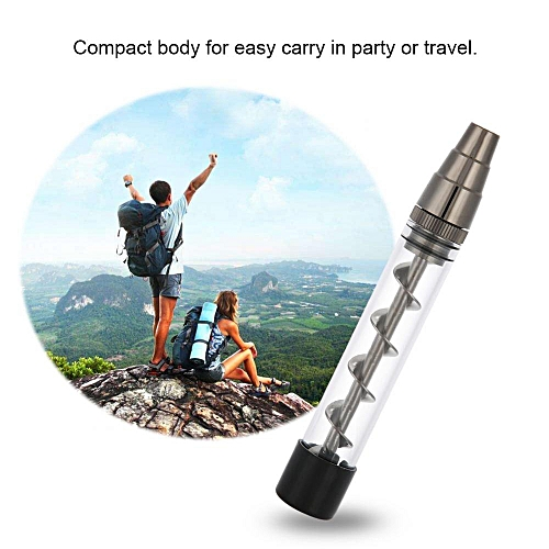 Newly Spiral Metal Pipes Glass Pipe Glass Blunt Tube Pipe Blunt