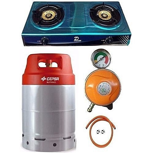 12.5kg Gas Cylinder With Best Choice Gas Cooker, Metered Regulator, Hose & Clips