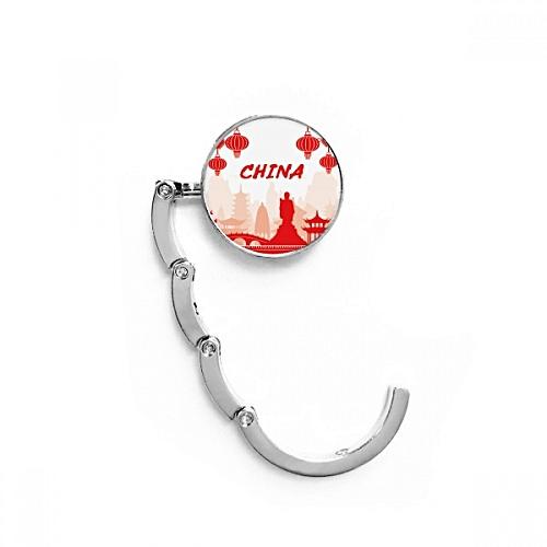 Red Silhouette Landmark China Foldable Holder