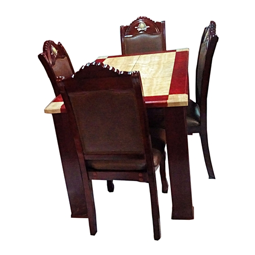Marble Dining Set, 4 Seater