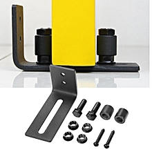 Adjustable Wall Mount Sliding Barn Door Hardware Bottom Floor Guide + Screws for sale  Nigeria