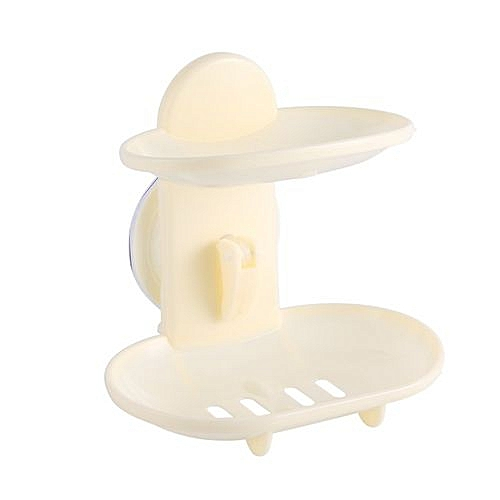 Double Layers Bathroom Soap Holder Rack