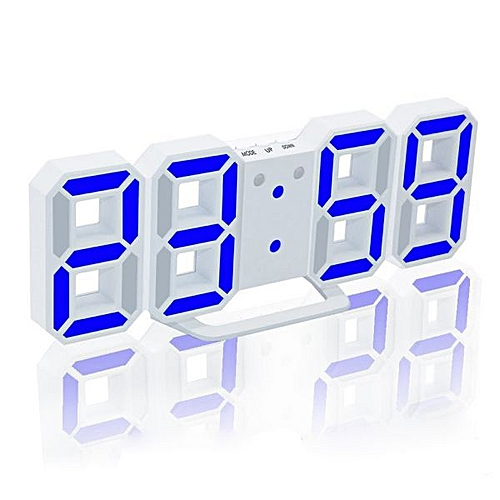 Modern 3D LED Digital Clock Table Clock Watches 24 Or 12-Hour Display Alarm Snooze Alarm Clock For Home Room Decal Gift(WL)