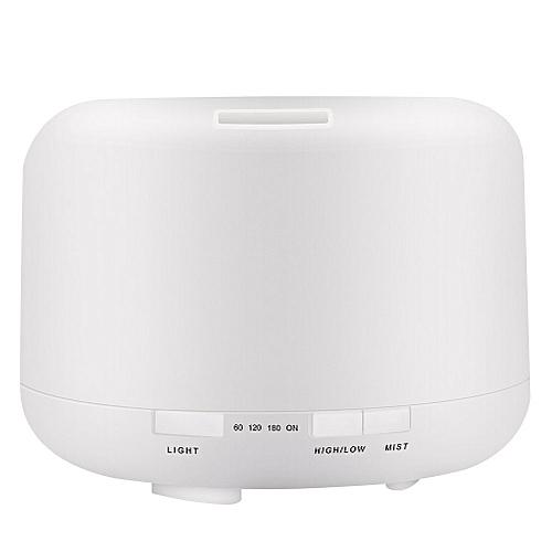 500ml Ultrasonic Aromatherapy Machine Air Humidifier Essential Oil Aromatherapy Lamp- Warm Light