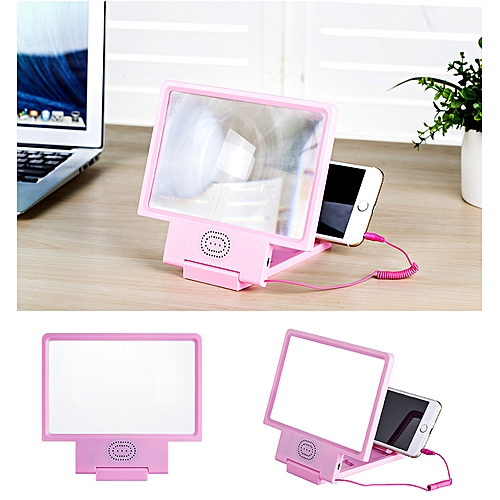Magnifier HD 3D Eye Protection Phone Magnifying Glass Screen Video  Amplifier With Speaker