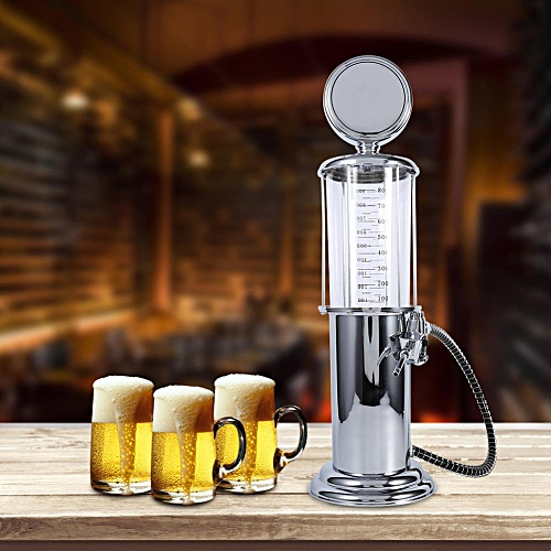 Transparent Beer Dispenser Machine Drinking Vessels Single Double Pump Wine Pourer Container Bar Tools Accessories Barware#Single