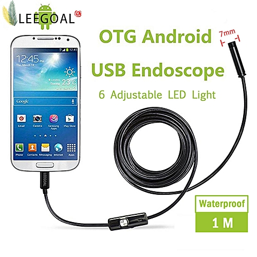 Leegoal WiFi Wireless Endoscope Camera Waterproof IP66 Handheld Inspection Snake Camera 2.0 Megapixels HD 6Led 720P For Borescope Video Inspection Support IOS ,Android(7MM 1M) MAZP-SHOP