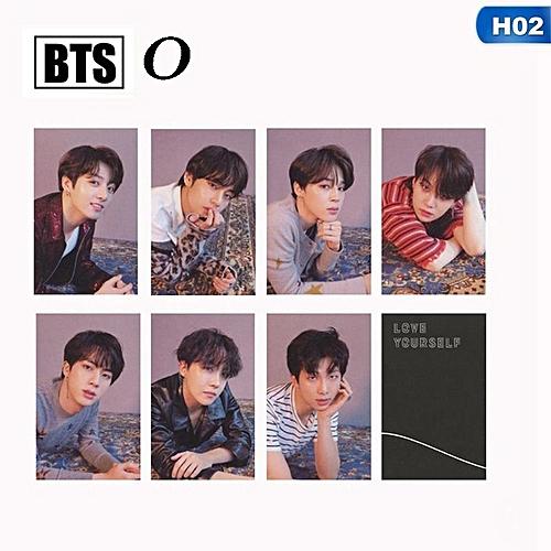 Style 7Pcs KPOP Bangtan Boys Album LOVE YOURSELF Tear FAKE LOVE Photo Card Lomo Cards