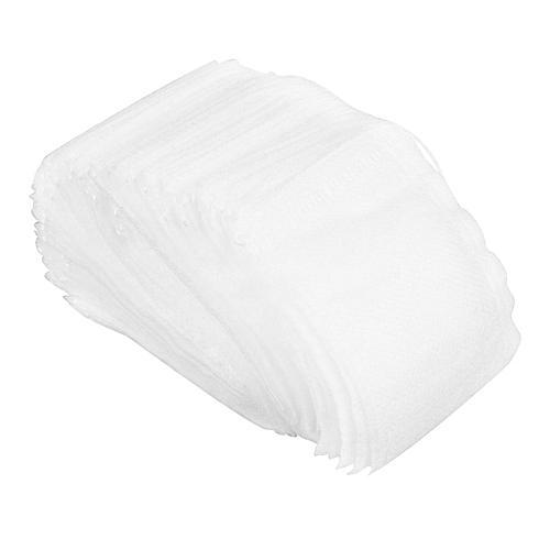 100PCS Tea Bags String Heat Seal Herb Filter Paper For Tea Spice Herbal Powder White