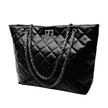b3d1601818 Fashionable Women PU Leather Shoulder Handbags Chain Single Bags Black