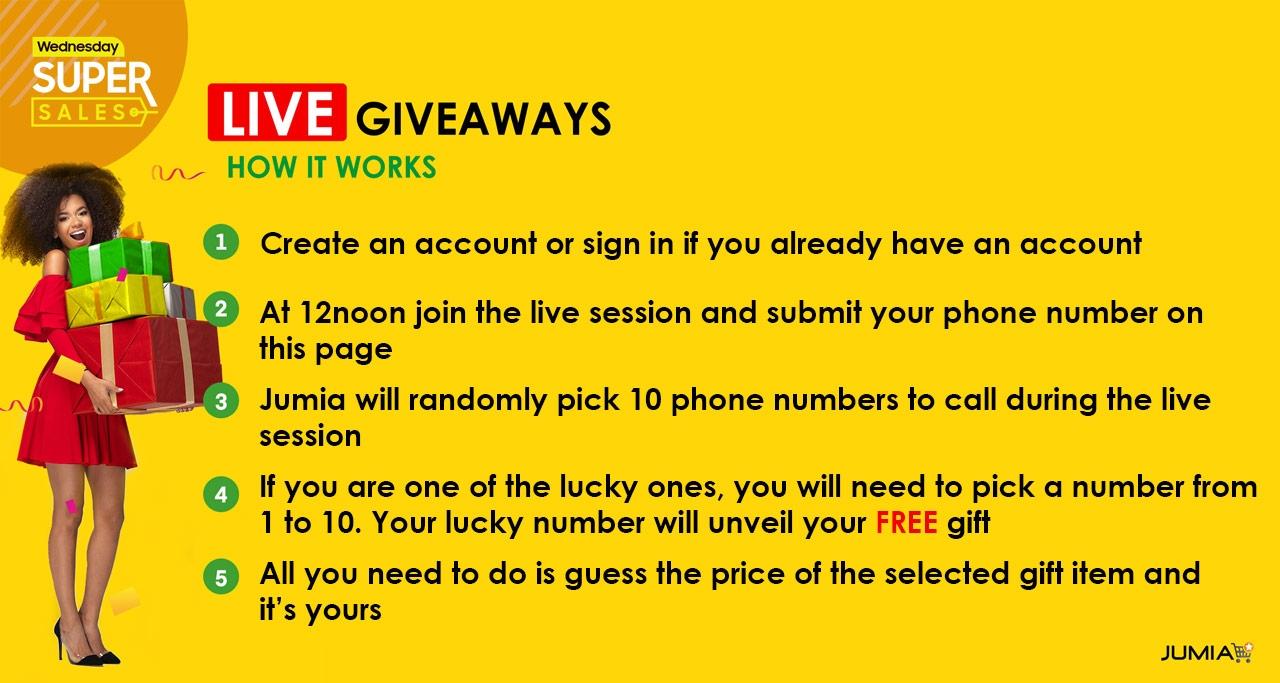 Daily Live Giveaway | Jumia com ng