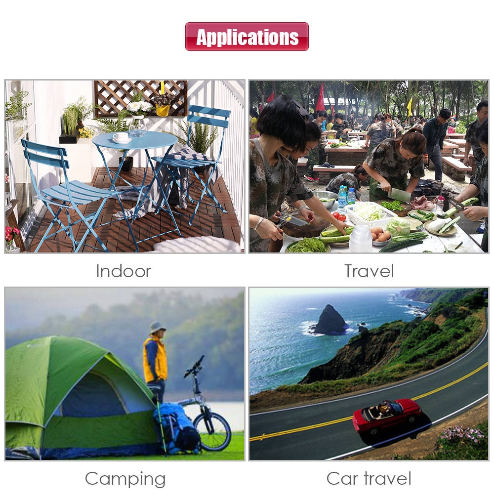 ALOCS CW - K13 600ML Outdoor Car Travel Camping Portable Aluminum Oxide Coffee Pot Kettle Cup Set