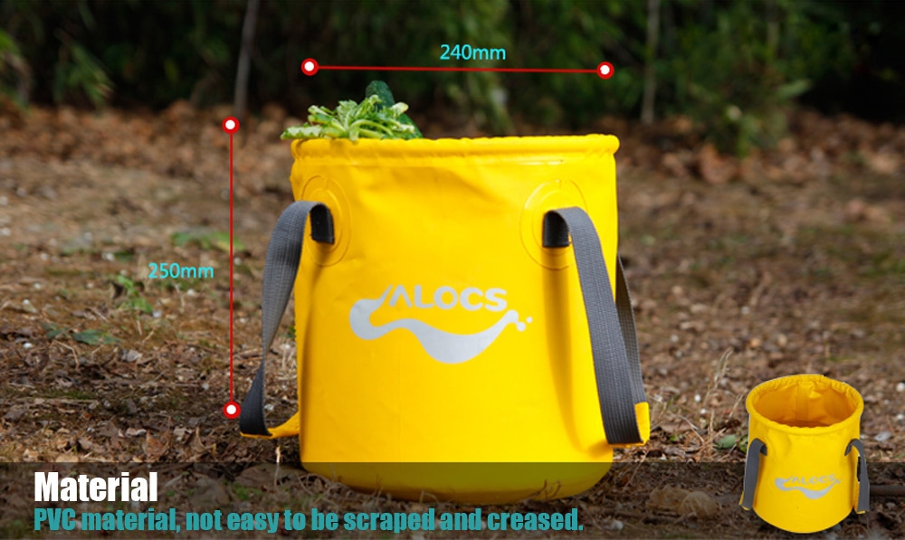 ALOCS AC - Z02 Outdoor Lightweight Portable 11L Folding Bucket Water Storage Fish Holder