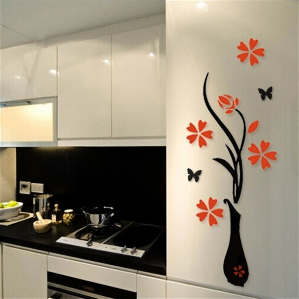 9bd7c6f097271515442b7d188abc68d9 Allwin 3D Acrylic Vase & Plum Pattern Room TV Backdrop Entrance Home Wall Sticker price on jumia