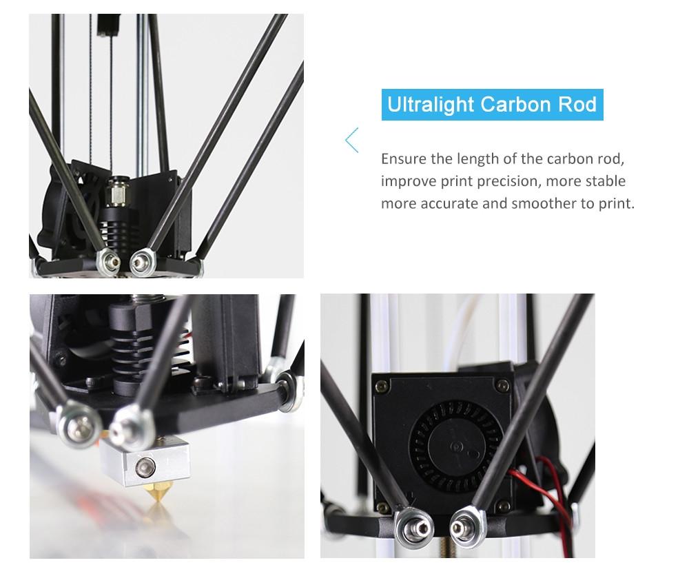 ANET A4 Fast Installation Aluminium Alloy Delta DIY 3D Printer Kit