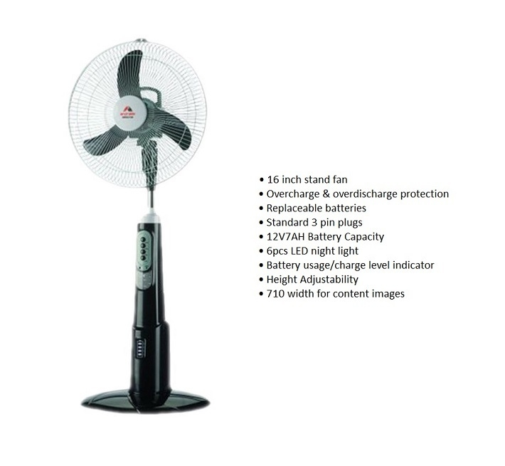 Buy Double Power Rechargeable Fan with USB Port on Jumia