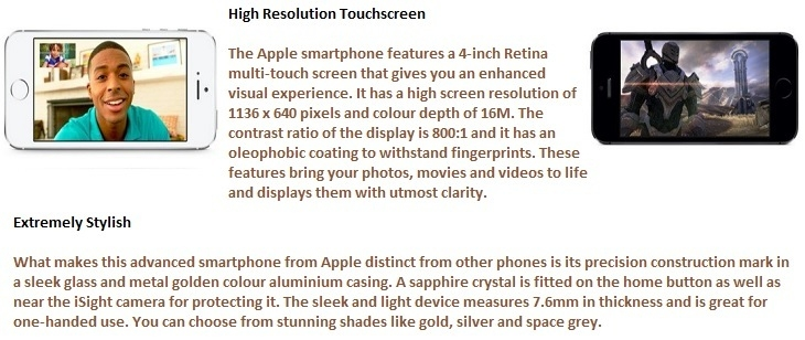 iphone 5s hd resolution/screen