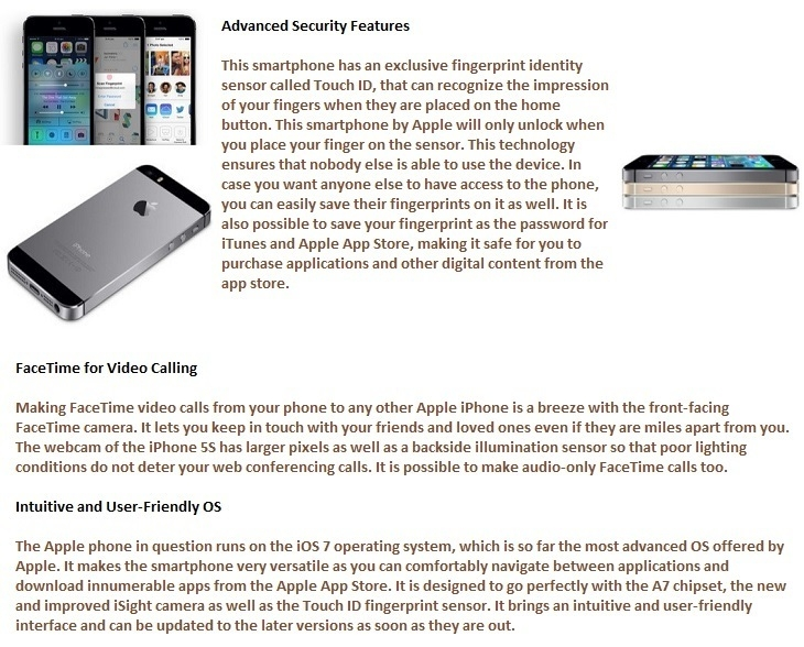 iphone 5s advanced security