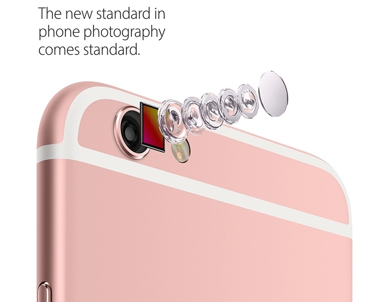 iPhone 6S 12MP Rear camera and 5MP Retina HD front camera