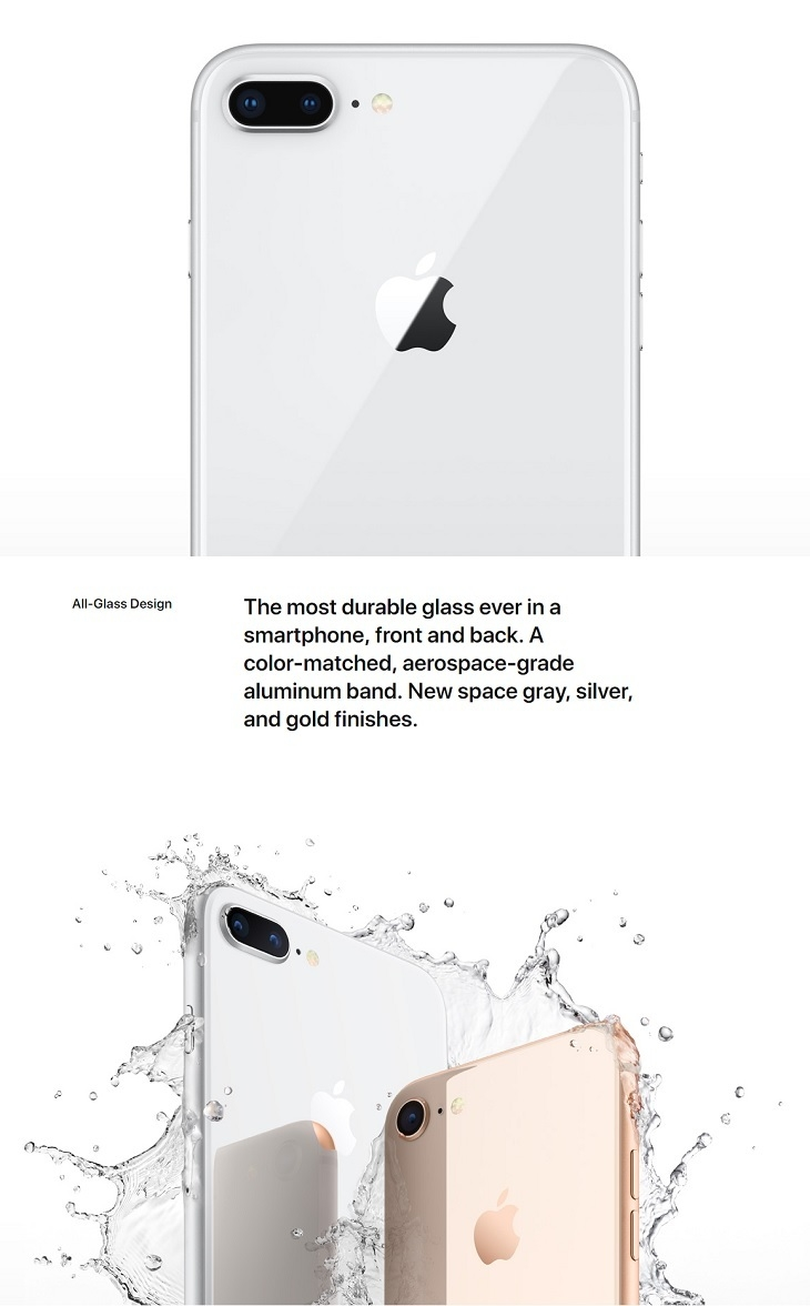 Apple iPhone 8 all glass design
