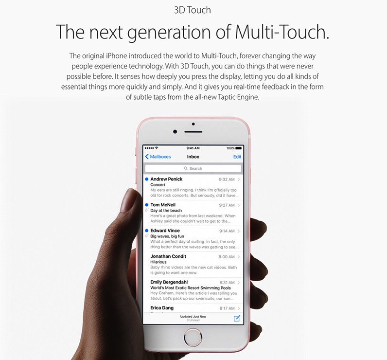 iPhone 6s with 3D Touch