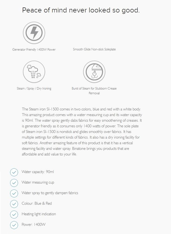 binatone SI-1500 on jumia best price