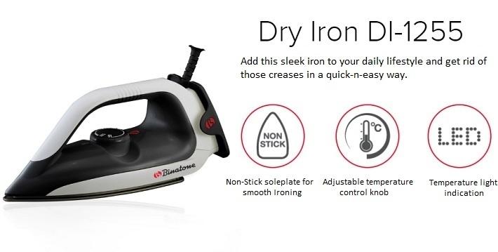 Binatone Dry Iron DI-1255 on Jumia at the best price