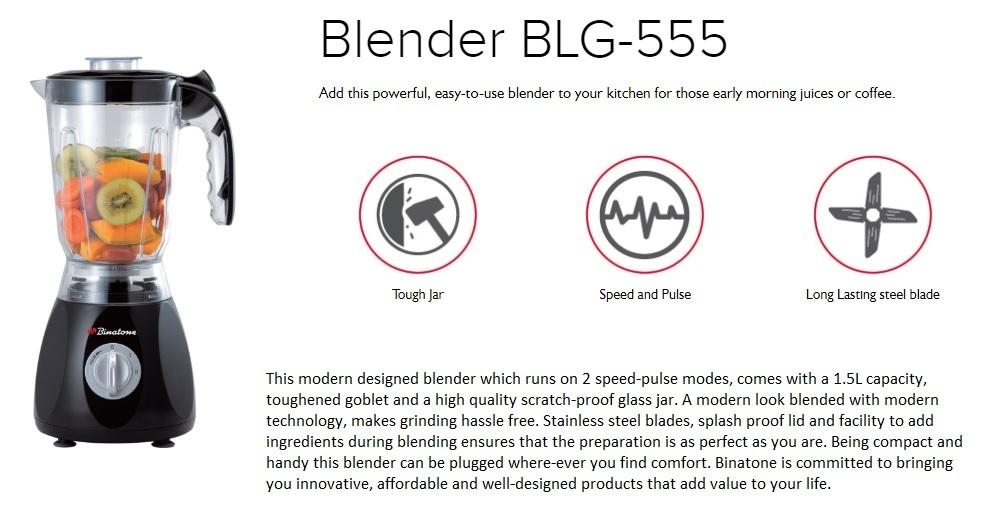 Binatone Blender/Grinder - BLG 555 on Jumia at the best price in Nigeria