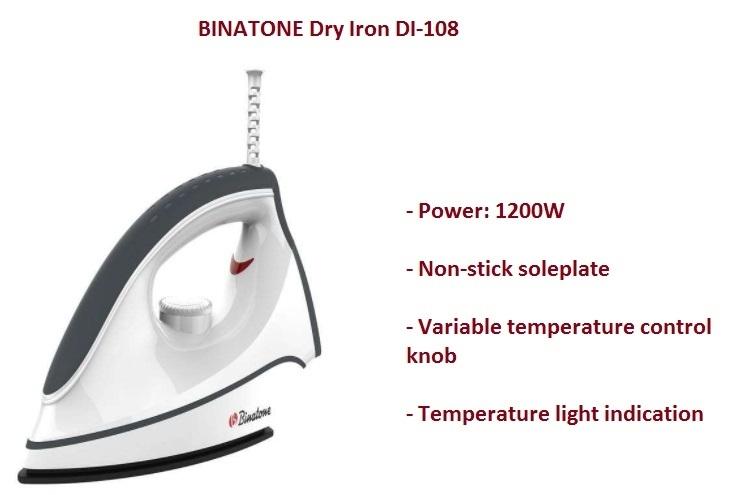 Binatone Dry Iron DI 108 on Jumia at the best price in nigeria