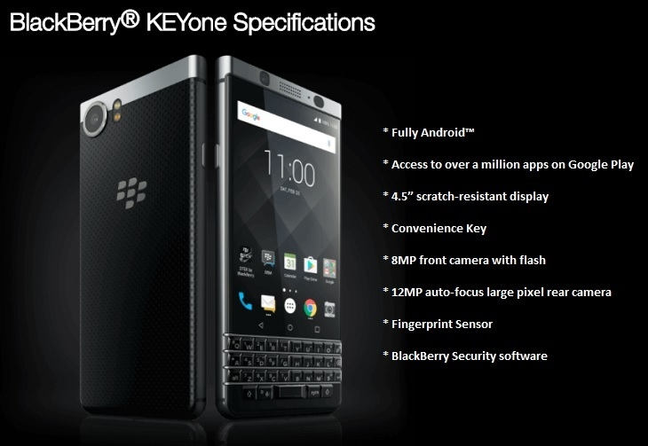 Blackberry KeyOne features affordable