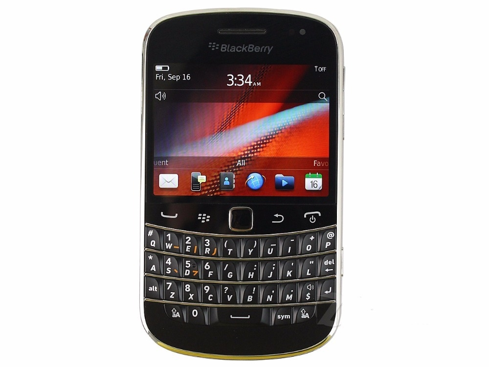Blackberry 9900 Blod Touch Mobile Phone 3G Cell phones WiFi  5.0MP Camera QWERTY keyboard Smartphone black 1