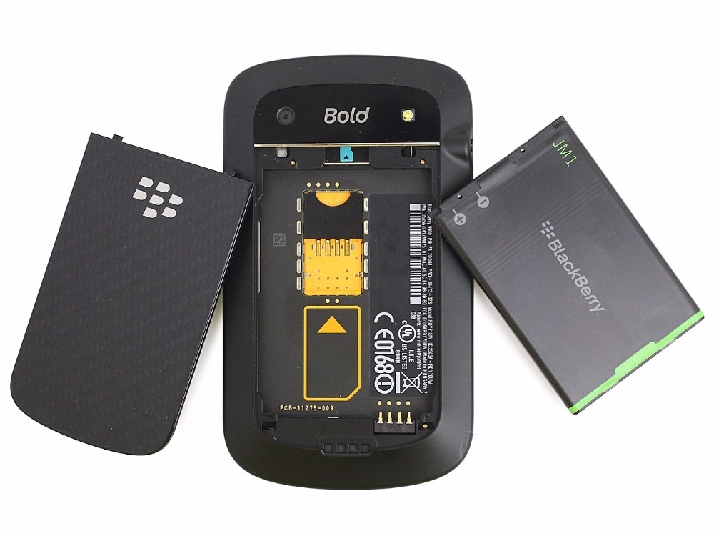 Blackberry 9900 Blod Touch Mobile Phone 3G Cell phones WiFi  5.0MP Camera QWERTY keyboard Smartphone black 6