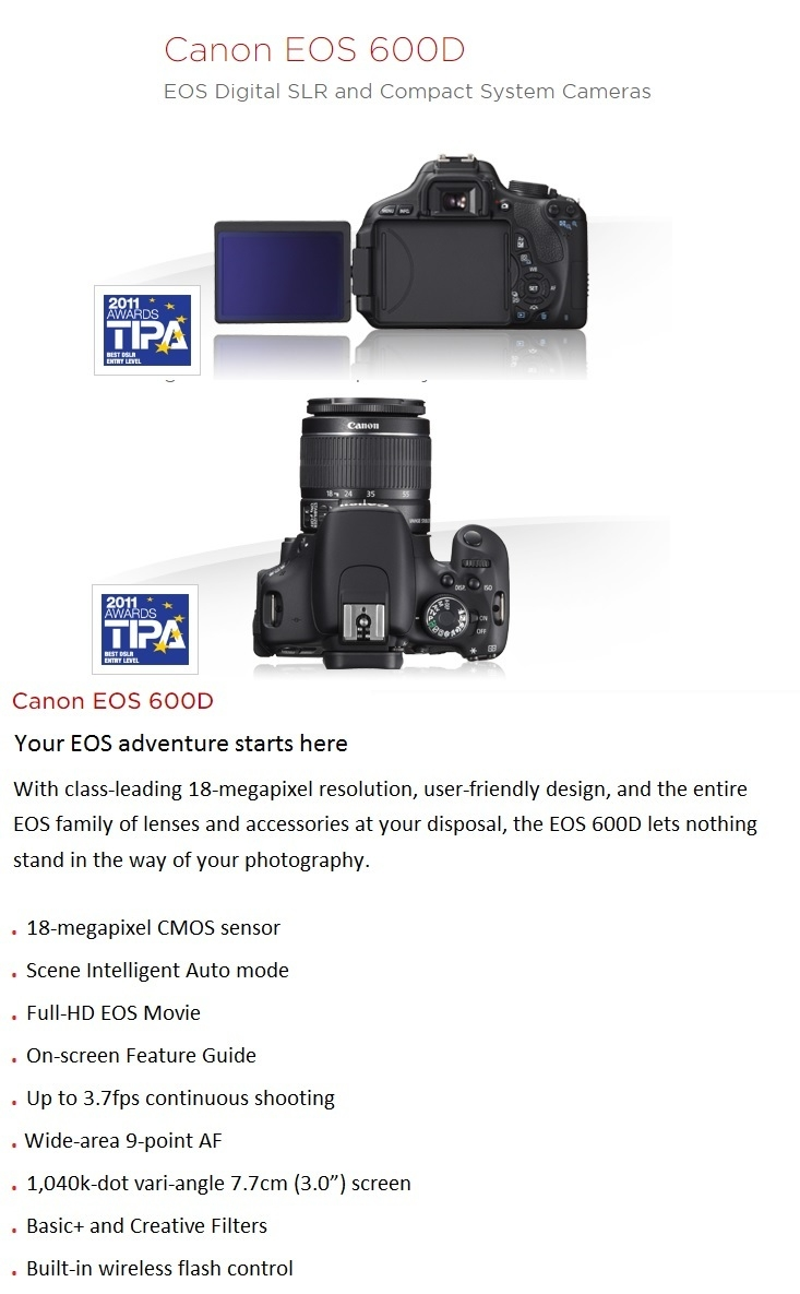Canon EOS 600D on Jumia affordable