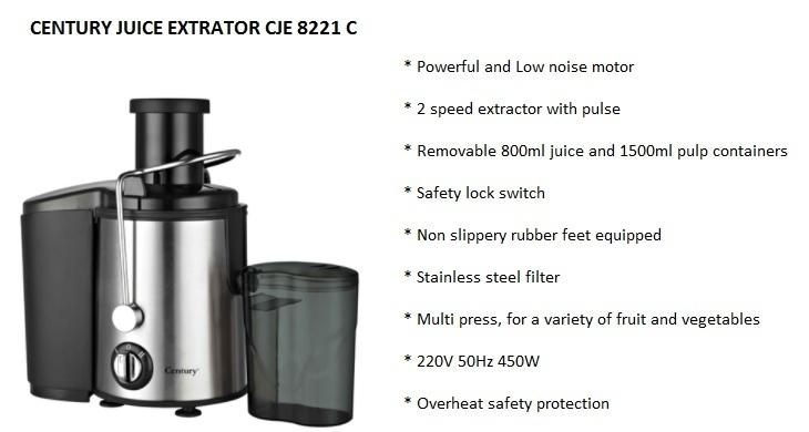 Century juice extractor CJE8221 C on jumia nigeria best price