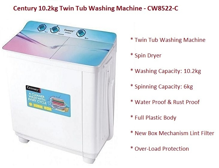 Century CW8522-C on Jumia affordable twin tub