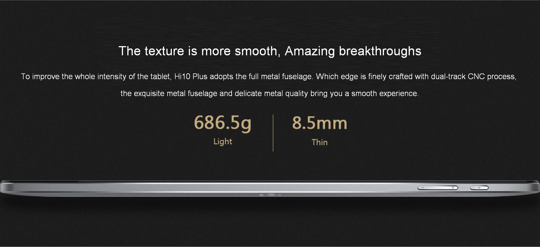 CHUWI HI10 PLUS 10.8 inch Windows 10 + Android 5.1 Tablet PC Intel Cherry Trail X5 Z8350 Quad Core 1.44GHz 4GB RAM 64GB ROM Type-C HDMI