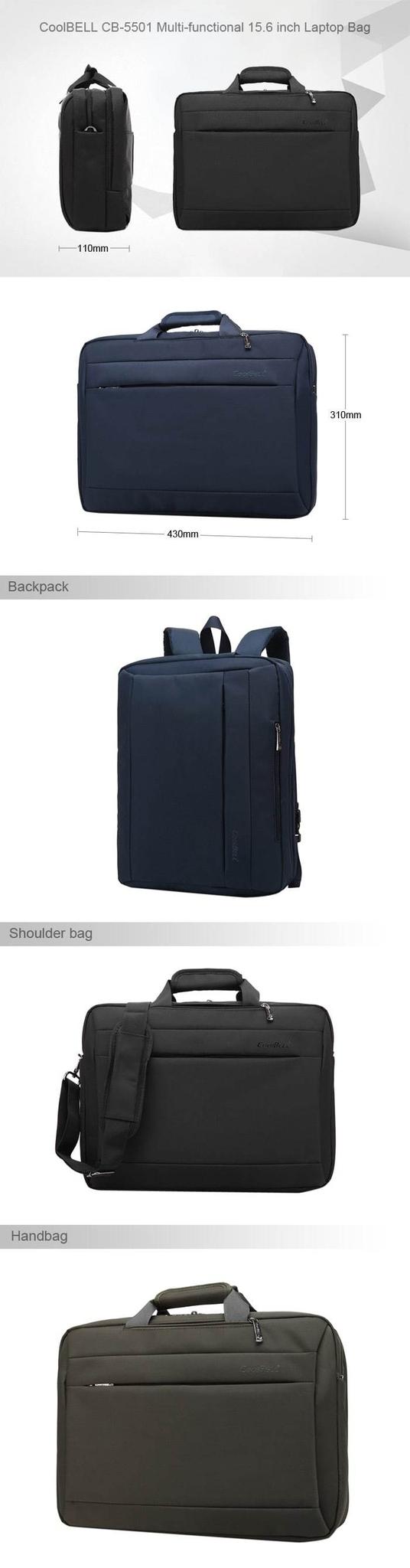 Shoulder Bag for Laptop / Notebook- Black