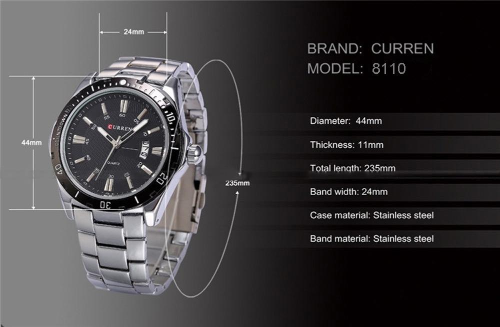 curren watch m 8110 что обращать