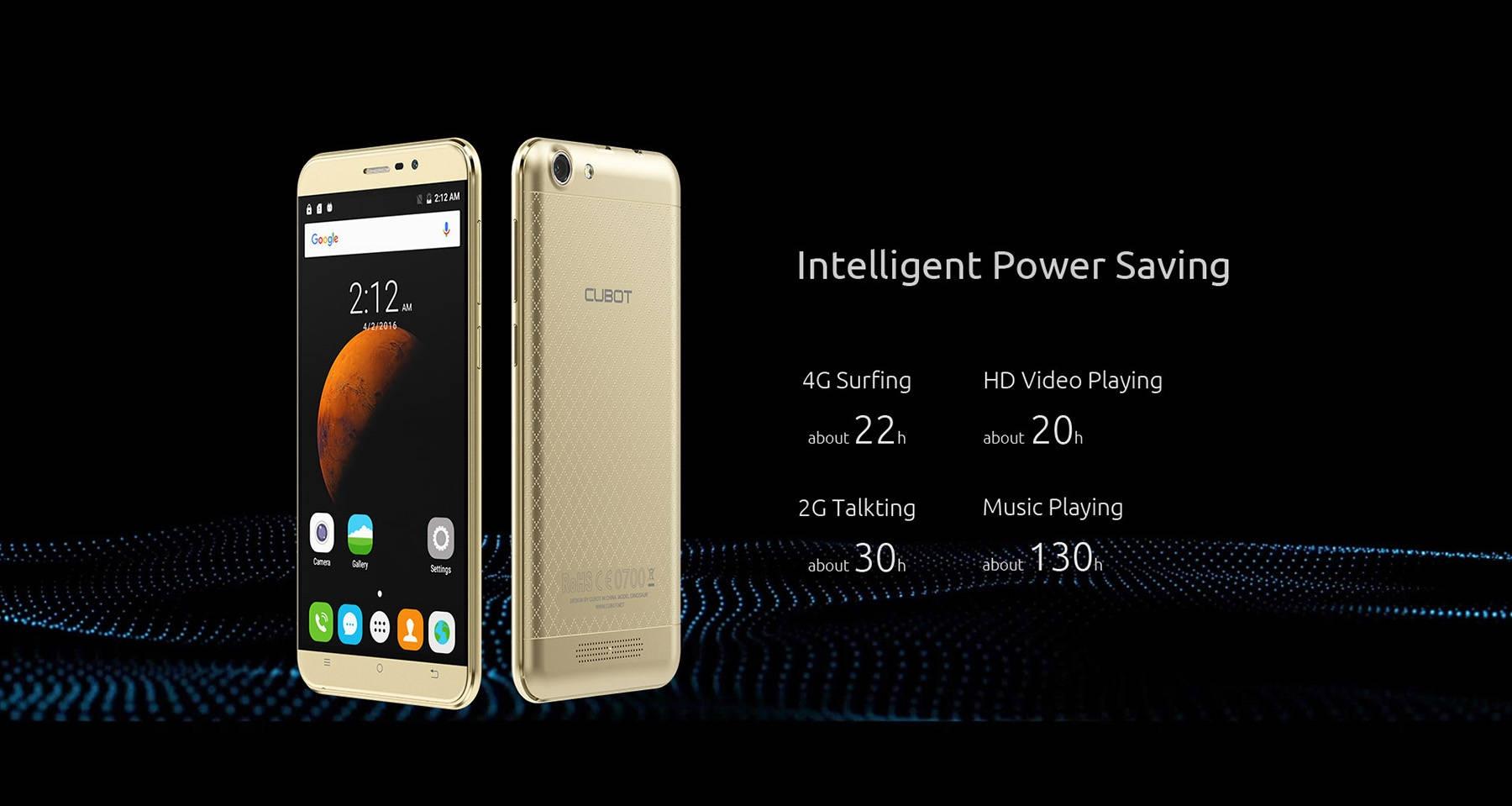 CUBOT Dinosaur 5.5 inch 4G Phablet Android 6.0 MTK6735 64bit Quad Core 1.3GHz 3GB RAM 16GB ROM HotKnot 4150mAh Battery