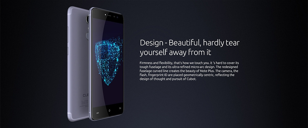 Cubot Note Plus 4G Smartphone 5.2 inch Android 7.0 MTK6737T Quad Core 1.5GHz 3GB RAM 32GB ROM 13.0MP Rear Camera Fingerprint Scanner