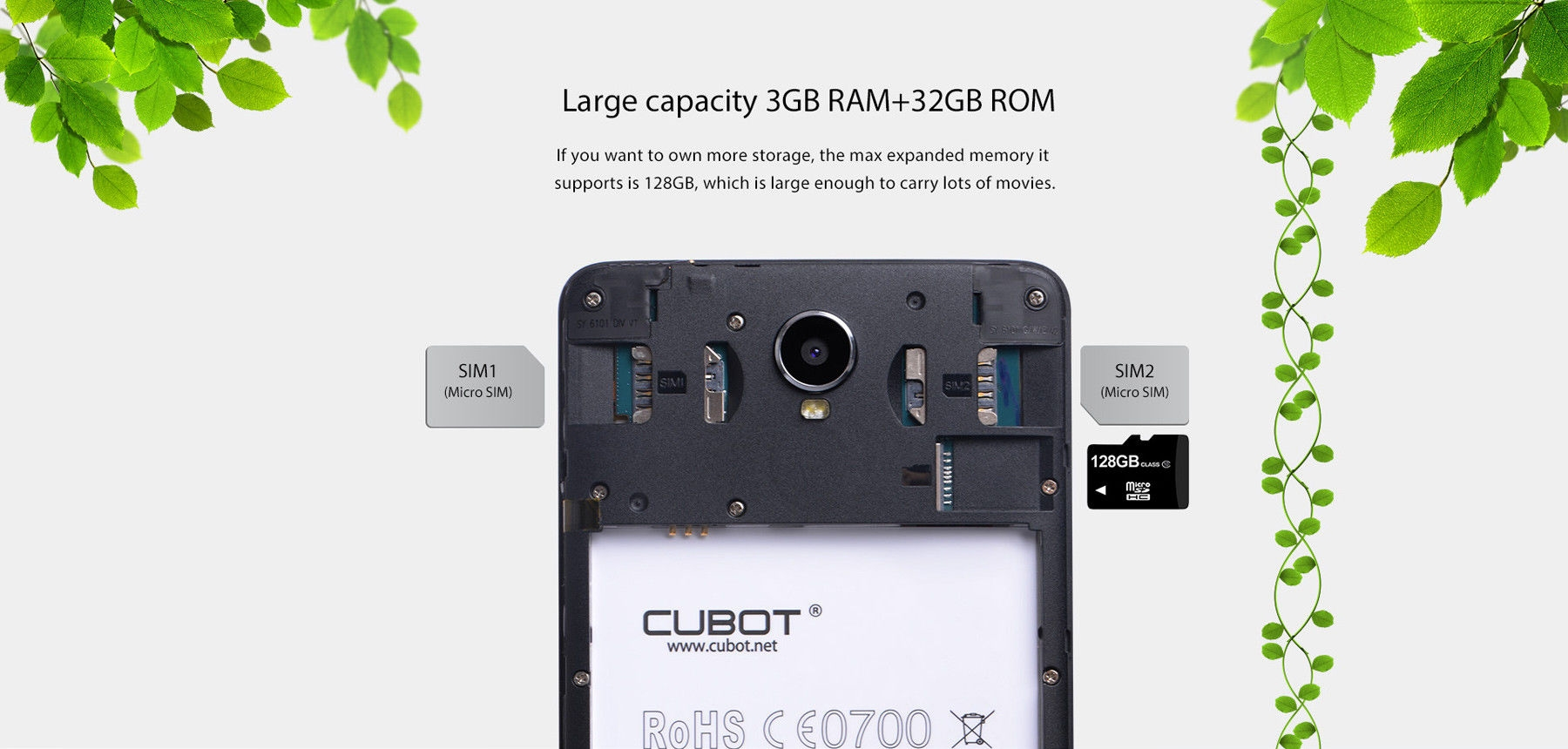 CUBOT Max 6.0 inch 4G Phablet Android 6.0 MTK6753 Octa Core 1.3GHz 3GB RAM 32GB ROM OTG Hotknot 4100mAh Battery