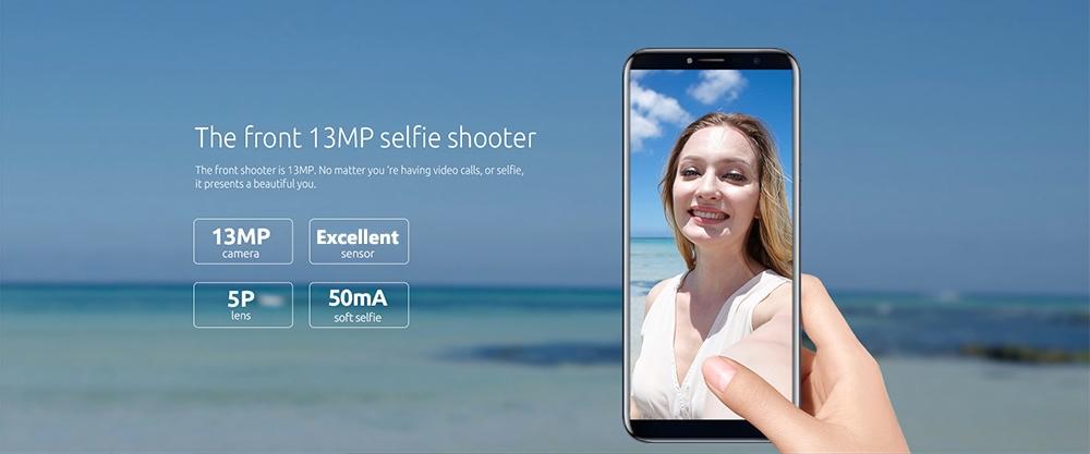 Cubot X18 4G Phablet Android 7.0 5.7 inch MTK6737T Quad Core 1.5GHz 3GB RAM 32GB ROM 13.0MP Rear Camera Fingerprint