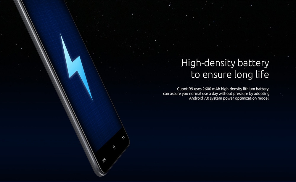 CUBOT R9 3G Smartphone Android 7.0 5.0 inch IPS Screen MTK6580A Quad Core 1.3GHz 2GB RAM 16GB ROM 13.0MP Rear Camera Fingerprint Scanner