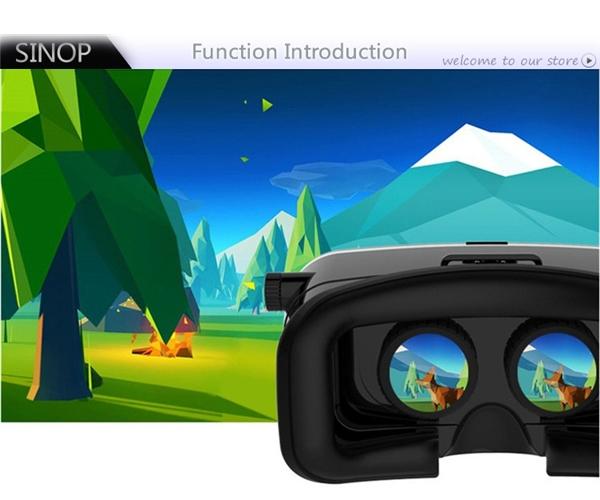 EastBuy VR Shinecon Virtual Reality 3D Glasses VR Google Cardboard Headset  Box Head Mount For Smartphone 4-6 Mobile Phone