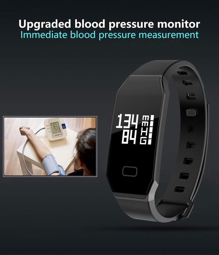 E02 Smartband Bluetooth 4.0 IP65 Waterproof Pedometer Calorie Consumption Blood Pressure Monitor IP65 Waterproof