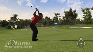Tiger Woods PGA Tour 12: The Masters screen #1 showing in-game PlayStation Move controller
