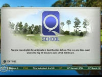 Q School screen from Tiger Woods PGA Tour 12: The Masters